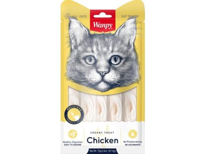 Wanpy Cat Creamy Lickable Treats - Chicken 5 x 14 g