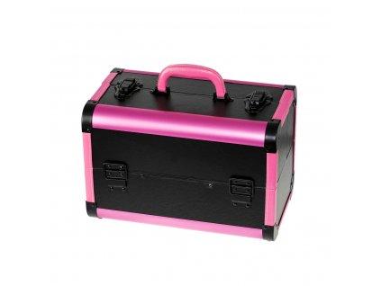 Kozmetický kufrík SENSE - leather, čierno-ružový