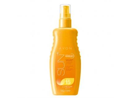 Avon Hydratační voděodolné mléko na opalování ve spreji pro citlivou pokožku SPF 15
