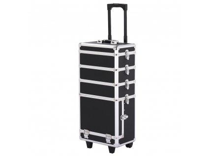 Velký kosmetický kufr 4v1 - černý