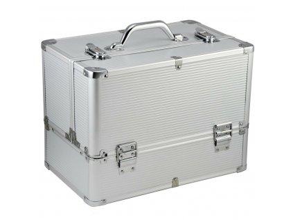 Kosmetický kufr LUXURY - XL, stříbrný