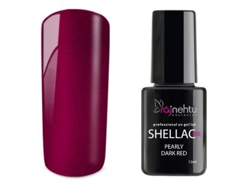 UV gel lak Shellac Me 12ml - Pearly Dark Red