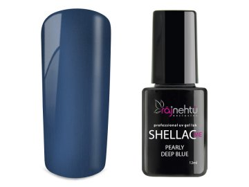 UV gel lak Shellac Me 12ml - Pearly Deep Blue