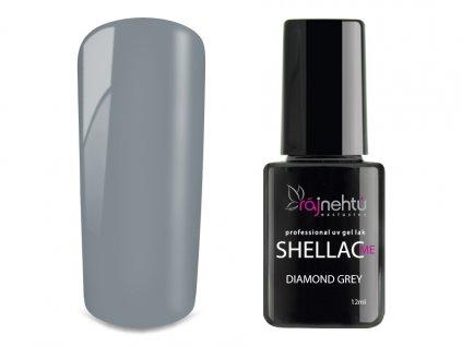 UV gel lak Shellac Me 12ml - Diamond Grey