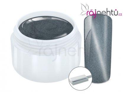 Ráj nehtů Barevný UV gel CAT EYE MAGNET - Silver 5 ml