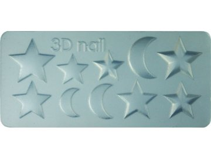 3D Šablóna - Star & Moon