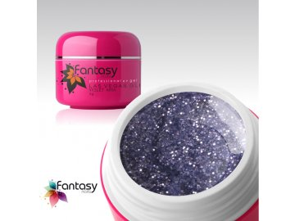 Farebný UV gél Fantasy Glitter 5g - Violet Aria