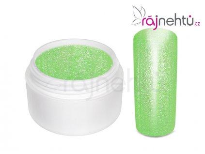 Farebný UV gél GLIMMER - Neon Green - 5ml
