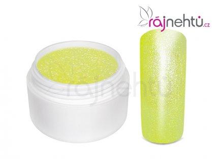 Farebný UV gél GLIMMER - Neon Yellow - 5ml