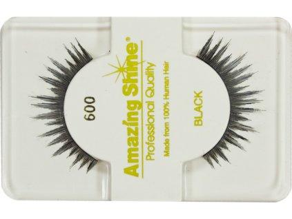 EYELASH BLACK - nalepovacie riasy celé na elastickom prúžku, čierne č.600