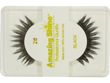 EYELASH BLACK - nalepovacie riasy celé na elastickom prúžku, čierne č.28
