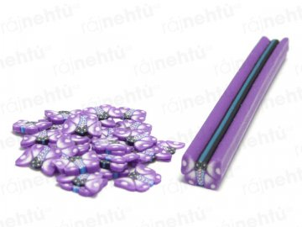 FIMO zdobenie - tyčinka, motív motýľ - fialový