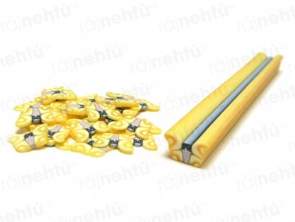 FIMO zdobenie - tyčinka, motív motýľ - žltý
