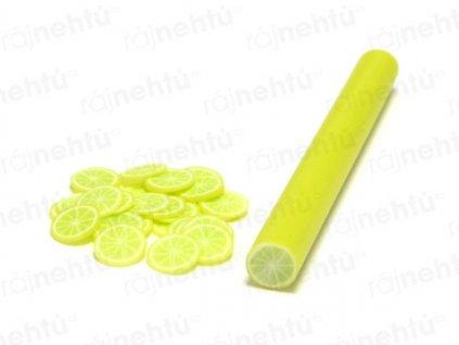FIMO zdobenie - tyčinka, motív ovocie - citrón