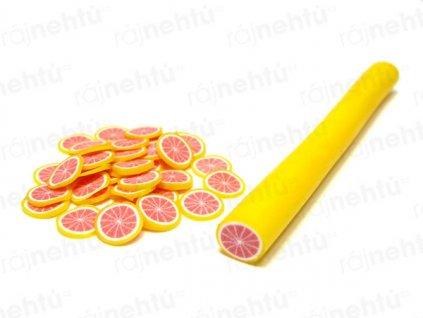 FIMO zdobenie - tyčinka, motív ovocie - grep