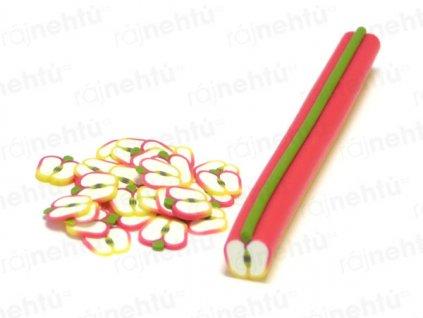 FIMO zdobenie - tyčinka, motív ovocie - jablko