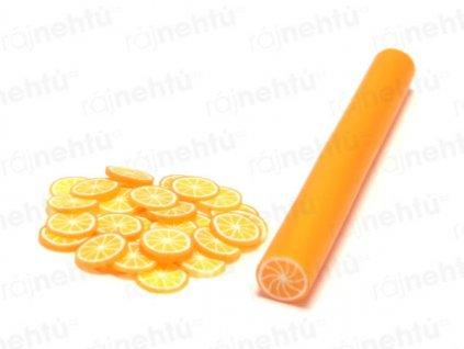 FIMO zdobenie - tyčinka, motív ovocie - pomaranč