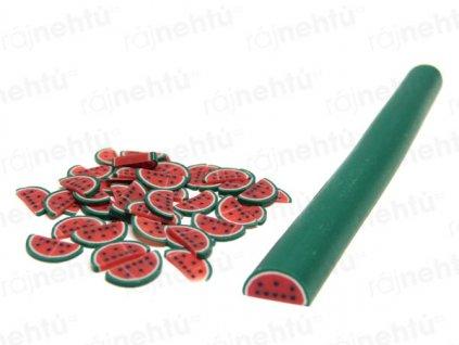 FIMO zdobenie - tyčinka, motív ovocie - polovica melóna