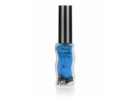 Konad Shining Nail Art zdobiaci lak 11ml - modrý