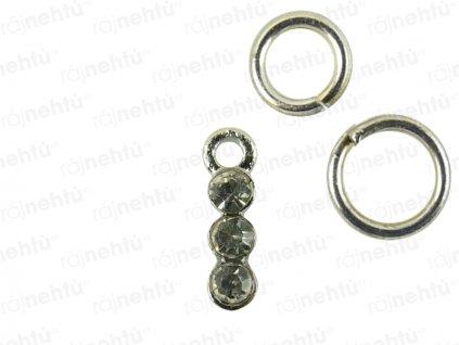 Ozdoba nechtov - Piercing 3 stone