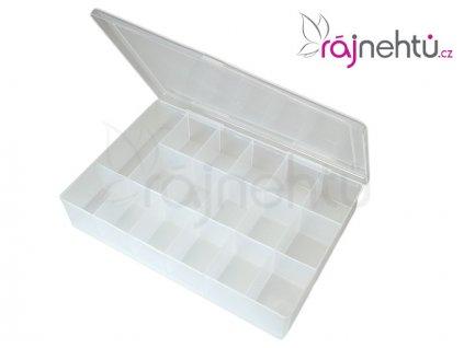 Plastový box na zdobenie s priehradkami