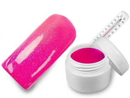Raj nechtov - Farebný UV gél THERMO - magenta/pink metal - 5 ml