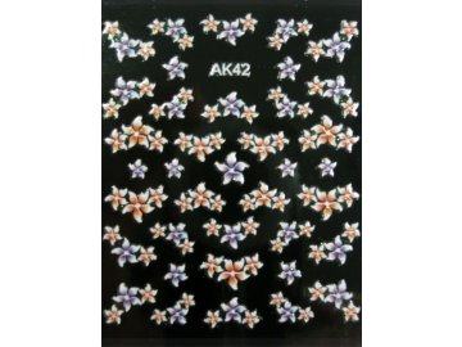 Samolepky na nechty 3D - AK42