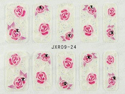 Samolepky na nechty 3D - séria JXR24
