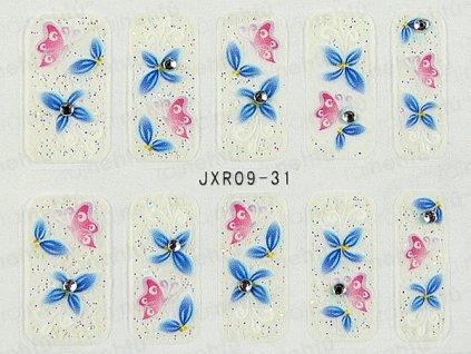Samolepky na nechty 3D - séria JXR31