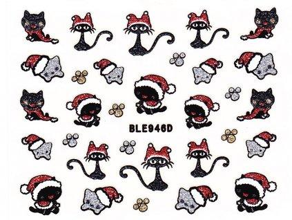 Samolepky na nechty glitrové Vianoce - 946D