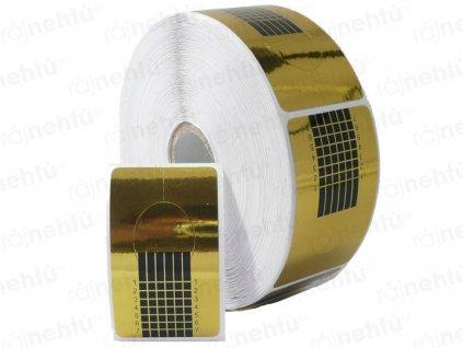 Šablóna na nechtovú modeláciu zlatá - 1 ks