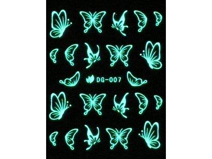 Vodolepky svietiace v tme - Motýľ