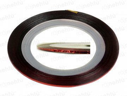 Zdobiaca páska - glitter červená