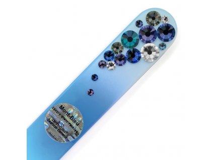 Pilník sklenený s kamienkami Swarovski - Modrý BC-M5