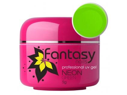 Farebný UV gél Fantasy Neon 5g - Medium Green