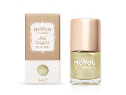 Pečiatkovací lak na nechty - Liquid Gold 9ml
