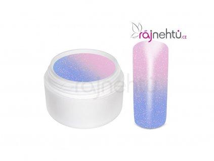 Raj nechtov - Farebný UV gél THERMO - violet/pink glimmer - 5 ml