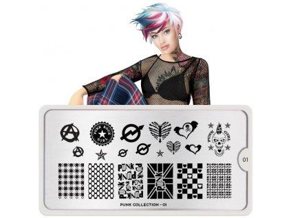 punk nail art design 01