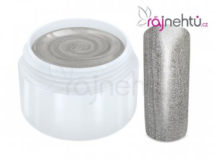 Raj nechtov Farebný UV gél METALLIC - Silver 5ml