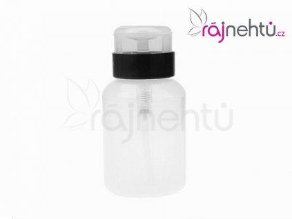 Plastový dávkovač s pumpičkou 200 ml - čierny, uzamykateľný