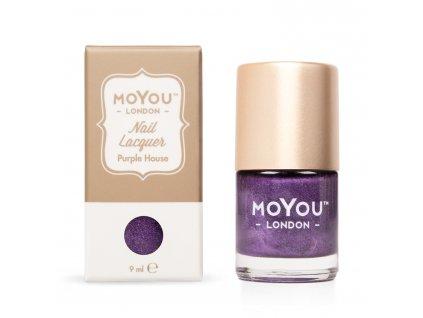 Pečiatkovací lak na nechty - Purple House 9 ml