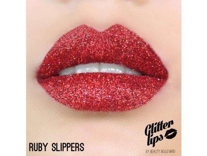 Glitter Lips, vodoodolné trblietky na pery - Ruby Slippers 3,5ml