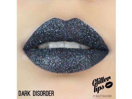 Glitter Lips, vodoodolné trblietky na pery - Dark Disorder 3,5ml