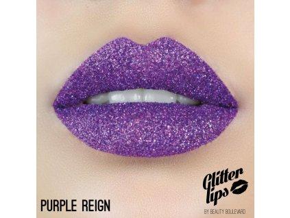 Glitter Lips, vodoodolné trblietky na pery - Purple Reign 3,5ml