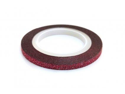 zdobici paska glitter cervena