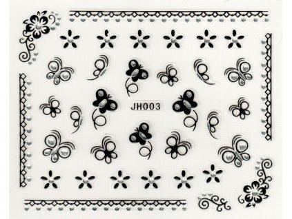 Samolepky na nechty 3D - JH003