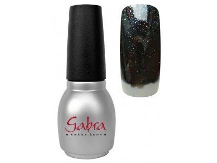 GABRA gél lak All in One - Čierna multi glitter