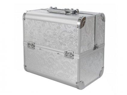 Kozmetický kufrík SENSE - dekor, strieborný