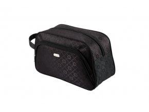 TopChoice Kosmetická taška Geometric - ČERNÁ 93777