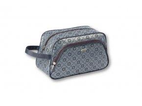 TopChoice Kosmetická taška Geometric - ŠEDÁ 93777